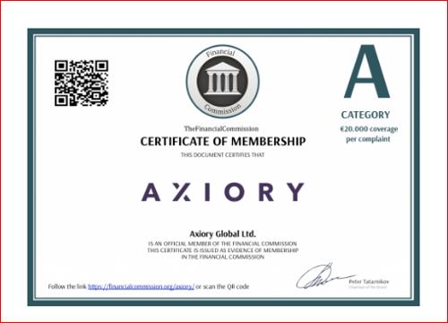 AXIORYのIFSCライセンス